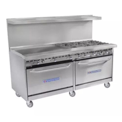 Bakers Pride Restaurant Series 60-BP-10B-S26 Liquid Propane 10 Burner Range with Two Standard 26