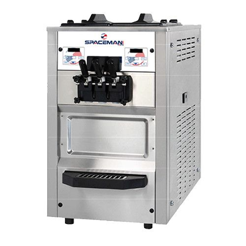 Spaceman 6235H Countertop Air-Cooled Self-Contained Two-Flavor Soft-Serve Machine - (2) 1.25 HP