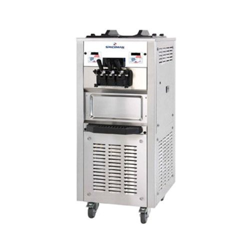 Spaceman 6250AH Floor Air-Cooled Self-Contained Two Flavor Soft-Serve Machine with Single Twist - (2) 1.25 HP