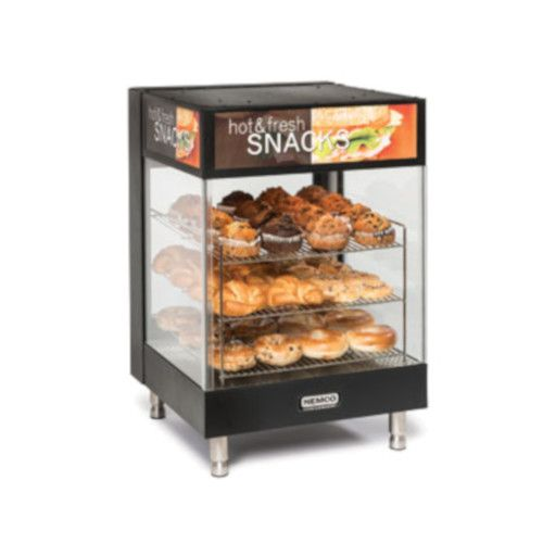 Nemco 6424 Countertop Snack Merchandiser with Angled 15