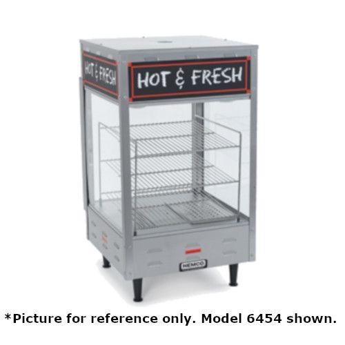 Nemco 6455 Countertop Heated Merchandiser with Three 19