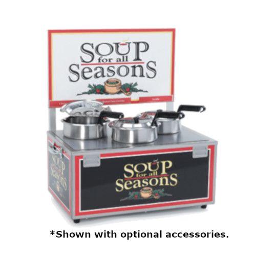 Nemco 6510-T4 Soup Warmer with Triple 7-Quart Wells