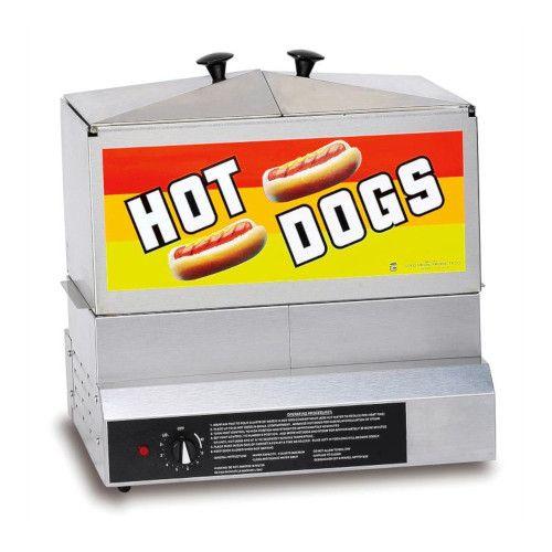 Gold Medal 8007DE Steamin' Demon with Dry Element Hot Dog Steamer