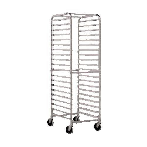 John Boos ABPR-1820-RKD Mobile Front-Loading Bun Pan Rack with Round Top Design