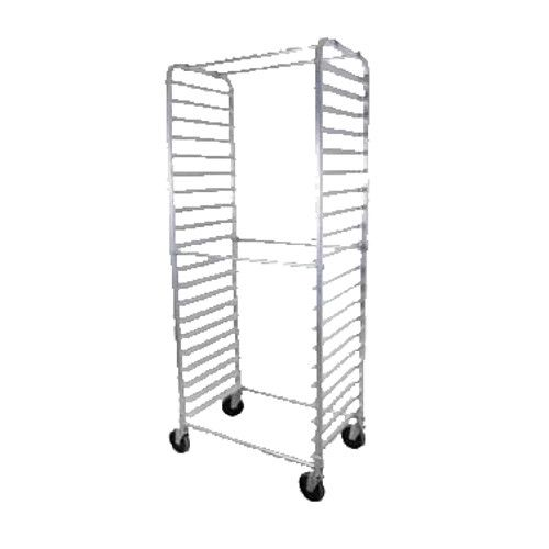 John Boos ABPR-1820-RKDS Mobile Side-Loading Bun Pan Rack with Round Top Design