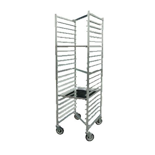 John Boos ABPR-1820-ZN Mobile Front-Loading Bun Pan Rack with Welded Set-Up and Nesting Design
