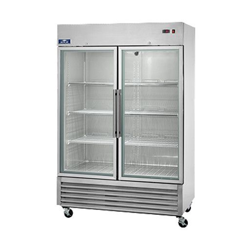 Arctic Air AGR49 Two Section Reach-In Refrigerator with Glass Doors