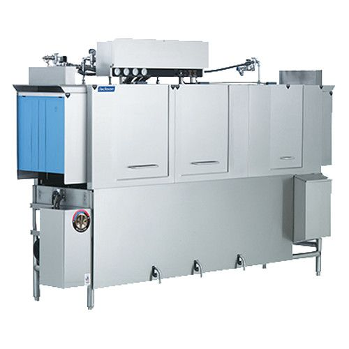Jackson AJ-100CS Conveyor Type Dish Machine with Steam Coil Tank Heat and Vent Fan Control