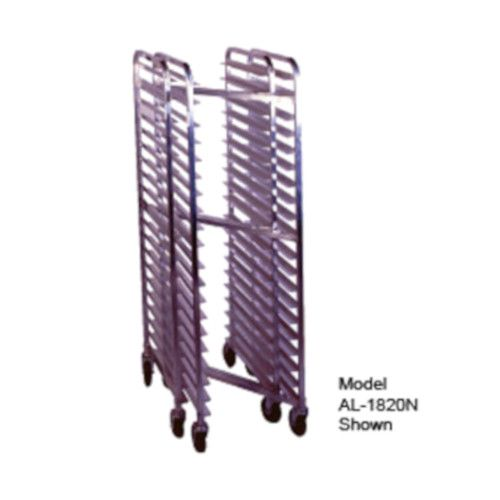 Winholt AL-1810N Full Height End Loading Mobile Nesting Pan Rack with Open Sides