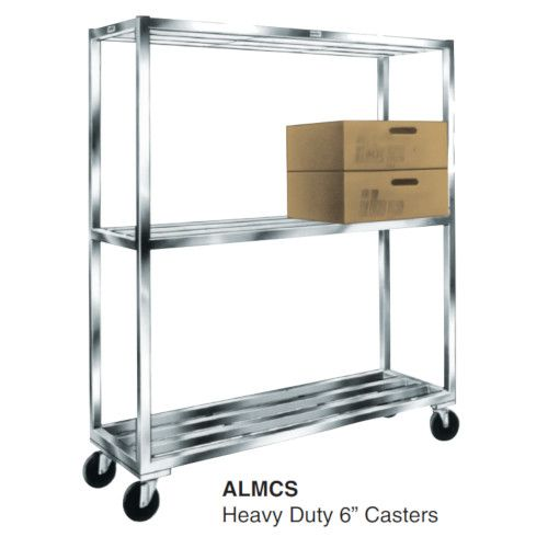 Winholt ALMCH-48-320 E-Channel Mobile Cooler Shelving with 3 Shelves