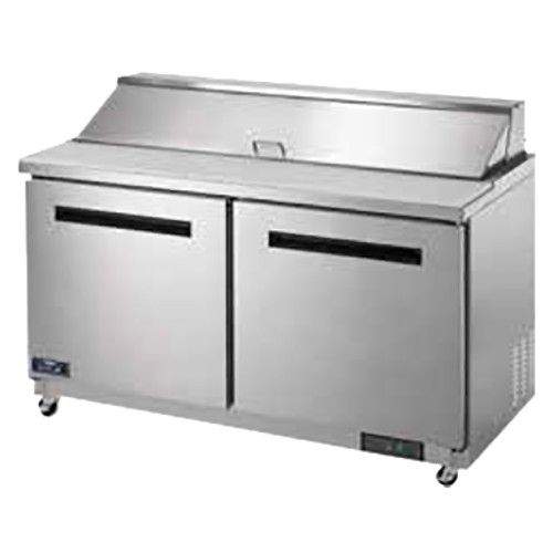 Arctic Air AST60R 16-Pan Refrigerated Sandwich / Salad Prep Table - 15.5 Cu. Ft.