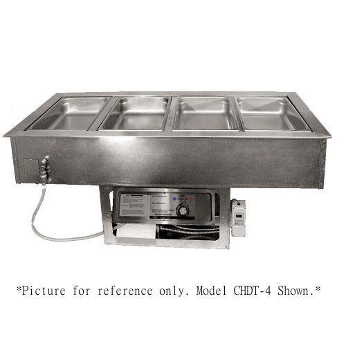 APW Wyott CHDT-2 Electric Drop-In Hot/Cold Food Well with 2 Inset Pans