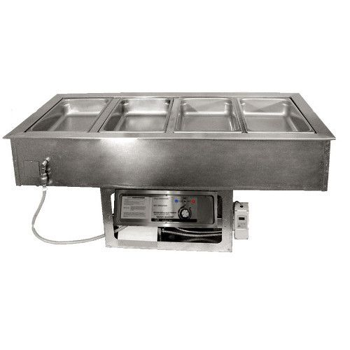 APW Wyott CHDT-4 Electric Drop-In Hot/Cold Food Well with 4 Inset Pans
