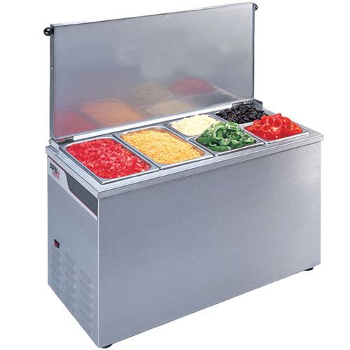 APW Wyott CTCW-43 Portable Refrigerated Countertop Pan Rail