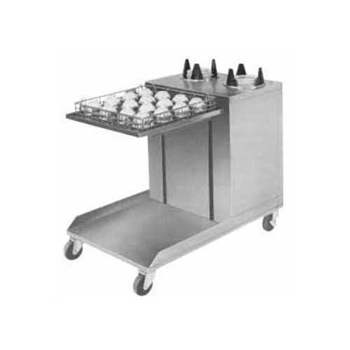 APW Wyott CTRS-2020-5 Mobile Lowerator Cup and Saucer Dispenser