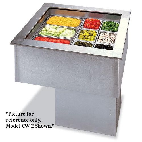 APW Wyott CWC-4 Curved Drop-In Refrigerated Cold Food Well Unit - 4 Pan Design