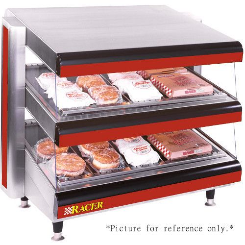APW Wyott DMXD-54S Multi-Product Racer Slanted Open Air Heated Merchandiser