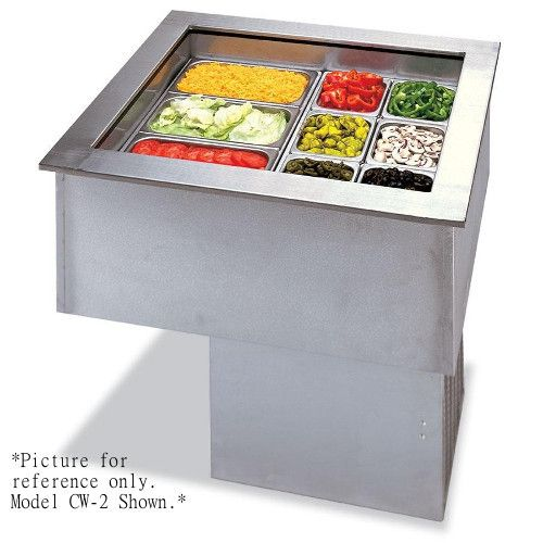 APW Wyott FACW-3 Refrigerated Drop-In Forced Air Cold Food Well - 3 Pan Design
