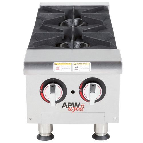 APW Wyott GHP-2i Gas Countertop Champion Hotplate - 2 Burners