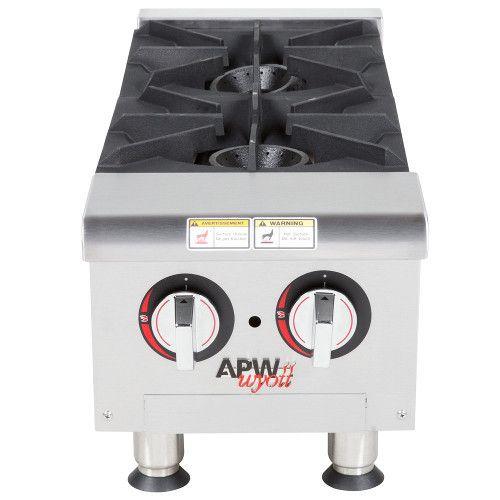 APW Wyott GHP-2i Gas Countertop Champion Hotplate - 2 Burners