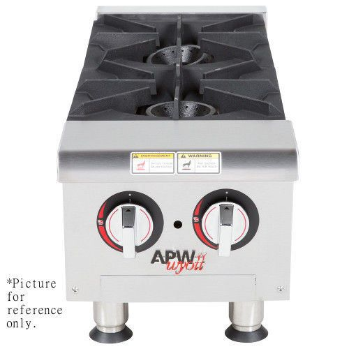 APW Wyott GHP-6I Gas Countertop Champion Hotplate - 6 Burners