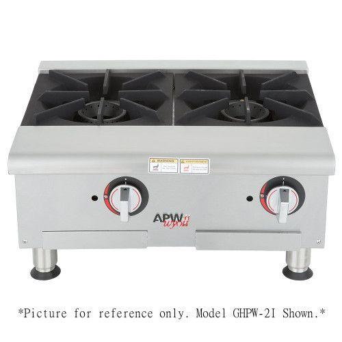 APW Wyott GHPW-3I Gas Wide 3 Burner Countertop Champion Hotplate