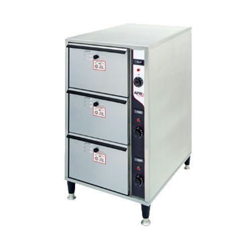 APW Wyott HDDIS-3 Free Standing Slim Line X*PERT Series Warming Drawer- 3 Drawer