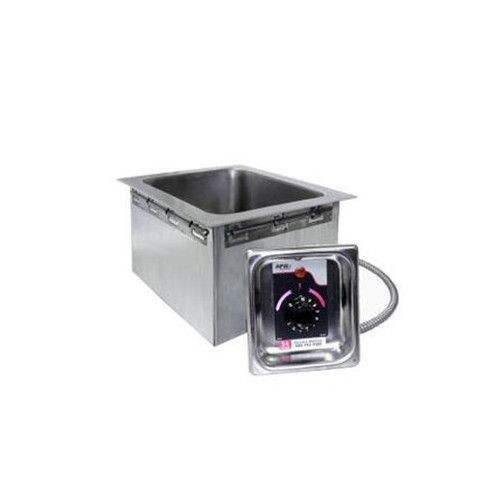 APW Wyott HFW-43D 4/3 Size Insulated One Pan Drop In Hot Food Well with Drain