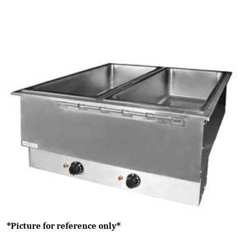 APW Wyott HFWAT-2D Electric Drop-In Hot Food Well Unit with Drain