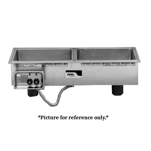 APW Wyott HFWS-2D Electric Drop-In Slim Line Hot Food Well Unit with Drain