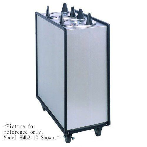 APW Wyott Lowerator HML3-10 Mobile Enclosed Heated Three Tube Dish Dispenser for 9 1/4