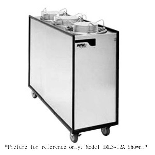 APW Wyott HML3-9 Mobile Enclosed Heated 3 Tube Dish Dispenser
