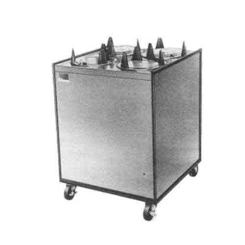 APW Wyott HML4-10 Mobile Enclosed Heated 4 Tube Dish Dispenser
