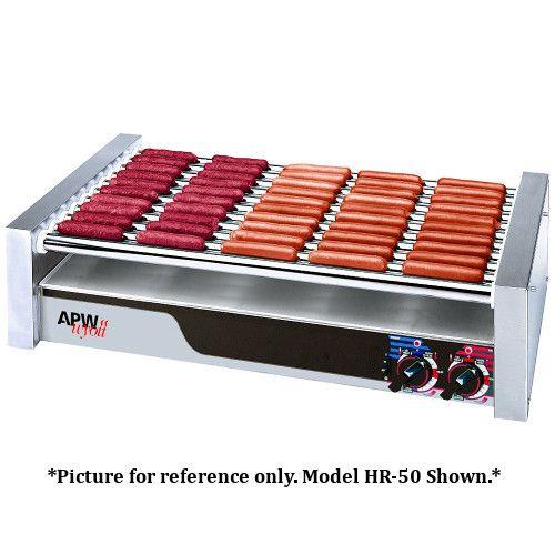APW Wyott HR-20 X*PERT HotRod Hot Dog Grill - 340 Hot Dog Capacity