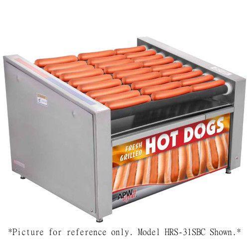 APW Wyott HR-50SBC X*PERT HotRod Slanted Hot Dog Grill with Bun Cabinet