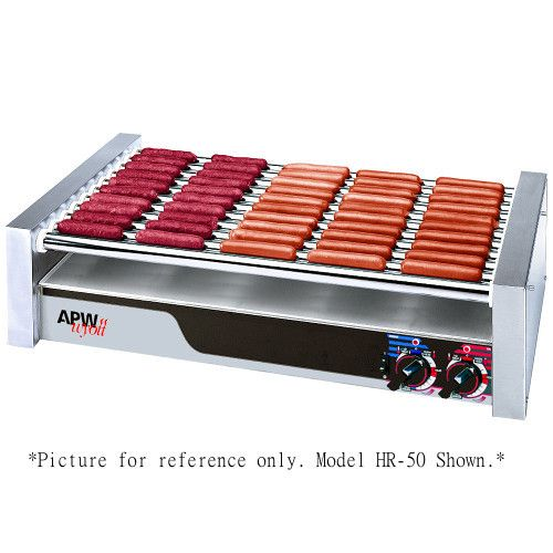 APW Wyott HRS-85 X*Pert Flat Top Hot Dog Roller Grill with Tru-Turn Surface Rollers