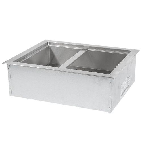 APW Wyott ICP-200 Two Pan Drop In Ice Cooled Cold Food Well