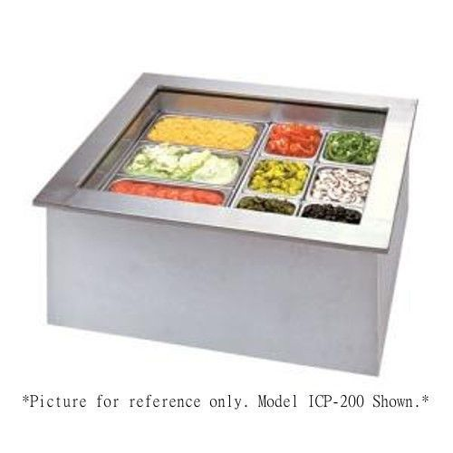 APW Wyott ICP-600 Six Pan Drop In Ice Cooled Food Well
