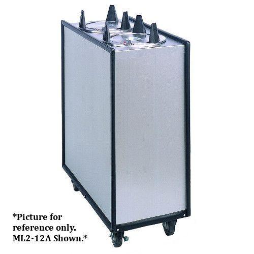 APW Wyott Lowerator ML2-6.5 Mobile Enclosed Unheated Two Tube Dish Dispenser