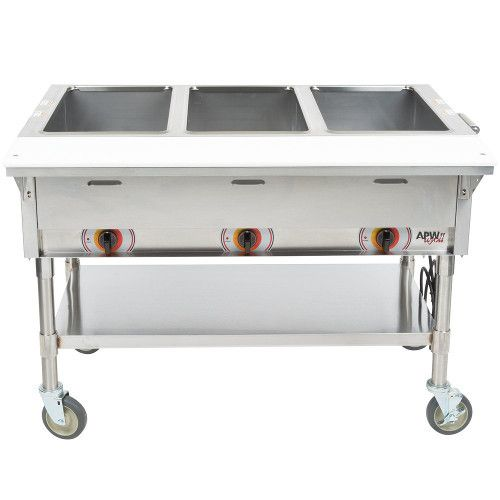 APW Wyott PSST-3S Electric Portable Sealed Champion Hot Well Steam Table