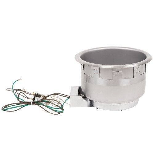 APW Wyott SM-50-11D Electric Drop-In Food Warmer with Drain- 11 Quart Capacity