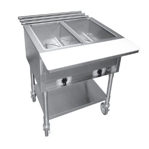 APW Wyott ST-2S Electric Stationary Champion Hot Well Steam Table
