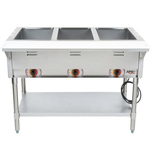 APW Wyott ST-3S Electric Stationary Champion Hot Well Steam Table