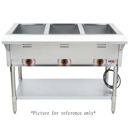 APW Wyott ST-4S Electric Stationary Champion Hot Well Steam Table with 4 Wells