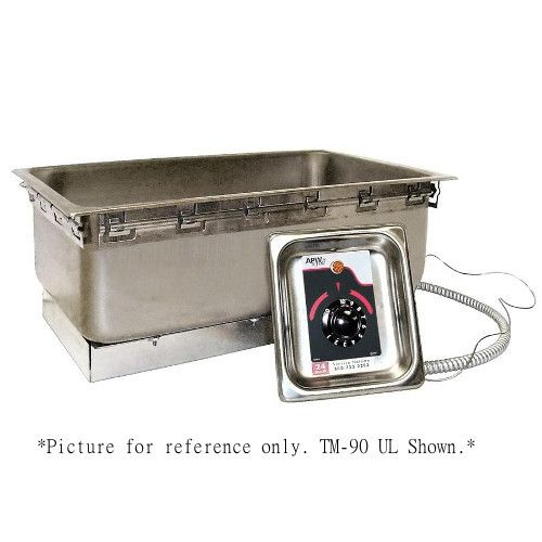 APW Wyott TM-12L UL 1/2 Size Uninsulated One Pan Drop In Hot Food Well with UL Electrical Kit