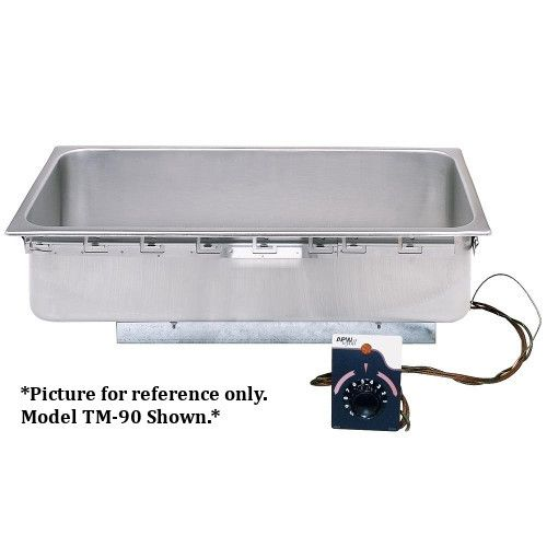 APW Wyott TM-43 4/3 Size Uninsulated One Pan Drop In Hot Food Well