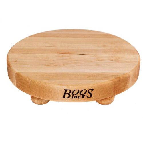 John Boos B12R Gift Collection Round Maple Cutting Board with Feet 12
