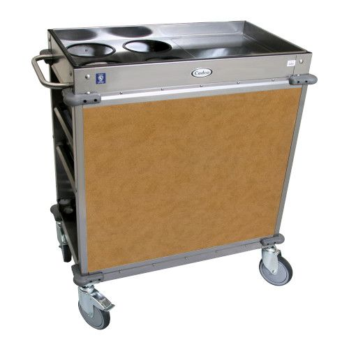Cadco BC-2-L1 Standard MobileServ Beverage Cart with 4 Airpot Wells
