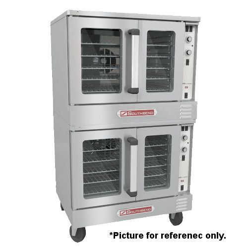 Southbend BGS/22SC Gas Double-Deck Bronze Convection Oven - 108,000 BTU
