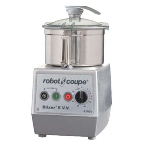 Robot Coupe BLIXER 5VV Variable Speed Food Processor with 5.5 Qt. Stainless Steel Bowl